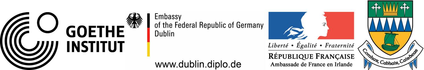 Here in Paradise is supported by the Goethe-Institut, German Embassy and French Embassy in Dublin and by Kerry County Council